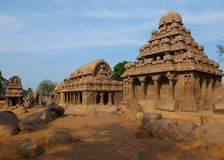 Panch Rathas, Mahabalipuram, India Royalty Free Stock Photography