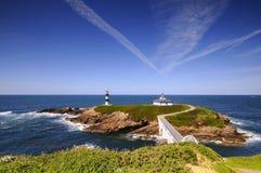 Pancha island in Ribadeo, Spain. Royalty Free Stock Image