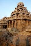 Pancha ratha temples,Mamallapuram India Royalty Free Stock Photos