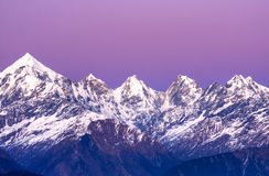 Panchachuli peaks Royalty Free Stock Photography