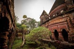 Pancharatna Gobinda寺庙在Puthia 免版税库存图片