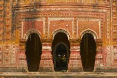 Pancharatna Govinda寺庙在Puthia,孟加拉国 库存图片