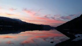 Pancherevo solnedgång, Sofia Bulgaria Arkivfoton