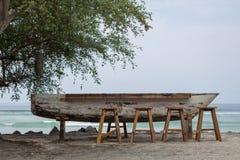 Panchetti ad una barra della barca fotografia stock libera da diritti