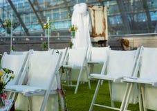 Panchetti di nozze dalla parte anteriore Fotografie Stock Libere da Diritti
