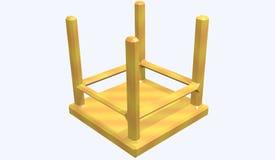 Panchetto di legno girato Immagini Stock