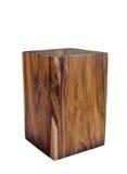 Panchetto di legno isolato su fondo bianco Immagine Stock