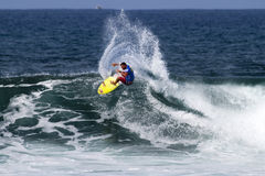 Pancho Sullivan surfing in the Triple Crown Hawaii Stock Photography