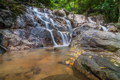 Panchur waterfall kenyir from left Stock Images