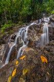 Panchur waterfall kenyir from light vertical view. This waterfall located near kenyir dam inside kenyir lake area Stock Photos