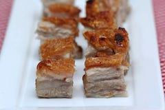 Pancia arrostita deliziosa della carne di maiale Fotografia Stock Libera da Diritti