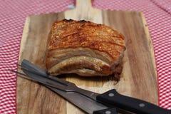 Pancia arrostita della carne di maiale Fotografie Stock