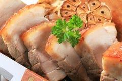 Pancia dell'arrosto di maiale Fotografia Stock