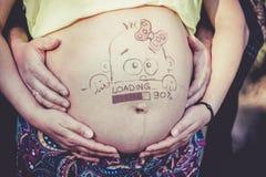 Pancia della donna incinta Immagini Stock Libere da Diritti