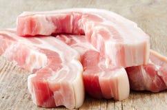 Pancia di carne di maiale cruda Immagini Stock Libere da Diritti