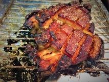 Pancia di carne di maiale arrostita della fiamma Immagini Stock Libere da Diritti