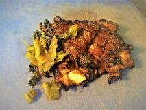 Pancia di carne di maiale Fiamma-grigliata ed affettata Immagine Stock Libera da Diritti