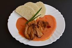 Pancia di porco fritta Fotografia Stock