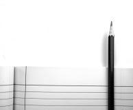 Pancil和书 免版税库存照片