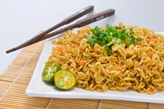 Pancit with chopsticks Stock Photos