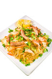 Pancit, Filipino noodle dish corner view Stock Images