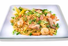 Pancit, Filipino noodle dish. Filipino Pancit  with shrimp, chicken and pork Stock Image
