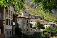 Pancorbo,布尔戈斯,西班牙全视图  免版税库存照片