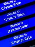 伦敦pancras st 免版税库存图片