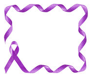 Pancreatic Cancer Awareness Purple Ribbon frame. With copy space Stock Photography