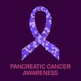 Pancreatic cancer ribbon poster Stock Image