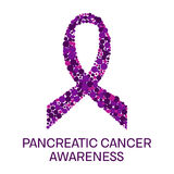 Pancreatic cancer ribbon poster Royalty Free Stock Images