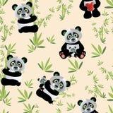 Panda άνευ ραφής Στοκ φωτογραφία με δικαίωμα ελεύθερης χρήσης