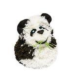 Panda από τα νήματα, χειροτεχνία, που απομονώνεται στοκ φωτογραφία με δικαίωμα ελεύθερης χρήσης