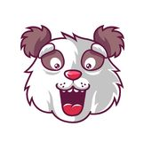 Panda διασκέδασης ρυγχών διανυσματική απεικόνιση
