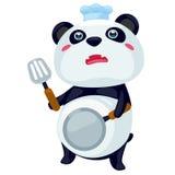 panda μαγειρέματος Στοκ Φωτογραφία