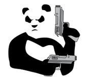 Panda με guns2 Στοκ Φωτογραφία