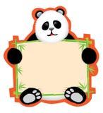 panda μηνυμάτων χαρτονιών Στοκ Εικόνα