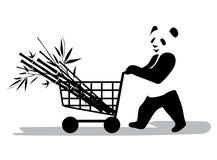 Panda στην υπεραγορά Στοκ Φωτογραφία