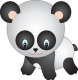 Panda. Illustration, isolated on a white background Stock Images