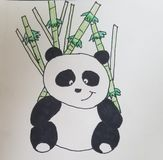 Panda vektor illustrationer