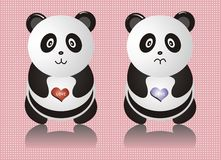 Panda. Cute panda picture vector design Stock Photos