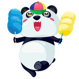 Panda. On a white background Stock Photography