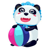 Panda. On a white background Stock Photos