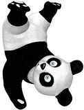 Panda. Fall down go boom Panda with isolation on a white background Royalty Free Stock Images