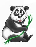 Panda. Color illustration of panda bear Royalty Free Stock Image