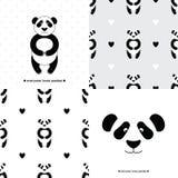A panda ajustou 1 Foto de Stock Royalty Free