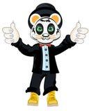 Panda animal dans le costume Illustration de Vecteur