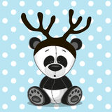 Panda with antlers Stock Photo