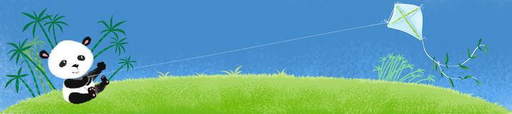 Panda auf dem Gras. Stockfoto