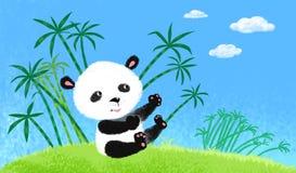 Panda auf dem Gras. Lizenzfreies Stockbild